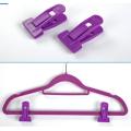 Purple Hanger Clips for Flocked Hangers