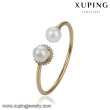 51749 xuping venta al por mayor últimos diseños de joyería de oro brazalete de mujer de moda para la boda