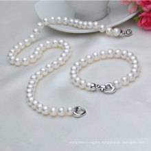 Real Freshwater Pearl Necklace and Bracelet Sets