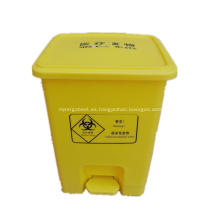 Contenedor de residuos medicos con pedestal.