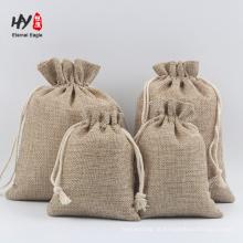 alta qualidade grossa durável bolsa de cordão de linho