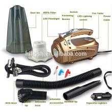 HF-VC03 (110) 12 V 100 W portable humide et sec quatre dans une voiture pompe à air de voiture aspirateur (certificat de la CE)