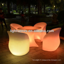 Canapé / chaise multi de changement de couleur LED