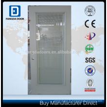 Verre de porte en acier, porte en verre avec store intégré