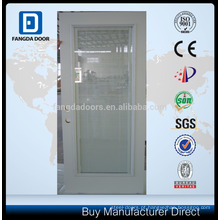 Porta de vidro em aço, porta de vidro com cortina embutida