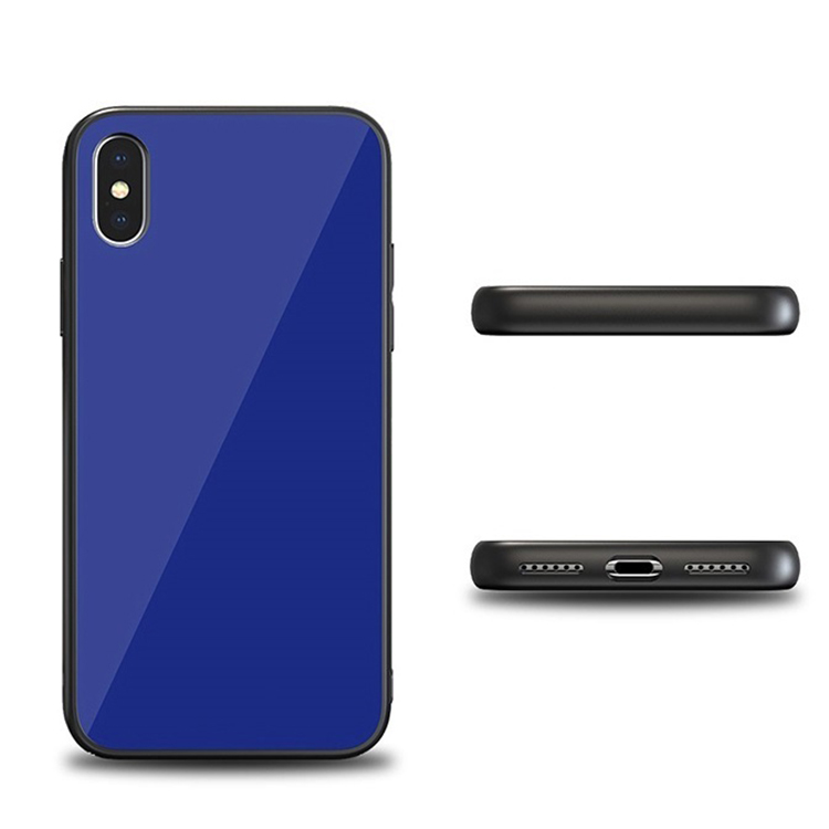 Tempered Glass Back Iphone X Case