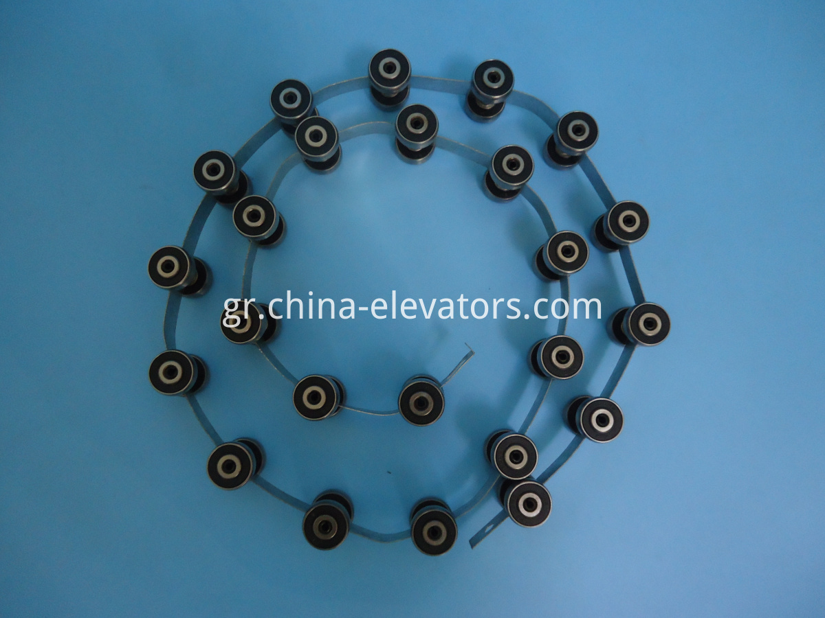Reversing Chain for ThyssenKrupp Velino Escalator 24 pair Rollers, Length 1270mm
