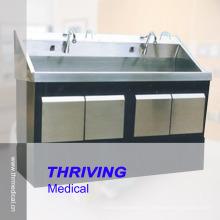 Lavabo de lavado del acero inoxidable del hospital (THR-SS078)