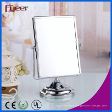 Fyeer Double Side Rectangle Makeup Mirror Magnifying Mesa de escritorio Espejo