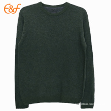 Mens Knit Round Neck Pullover Sweat liso