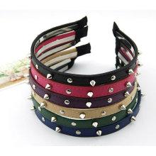 Art und Weise handgemachtes Rivert Hairband / Stirnband Haar-Klipp-Haar-Zusätze für Frau BH03