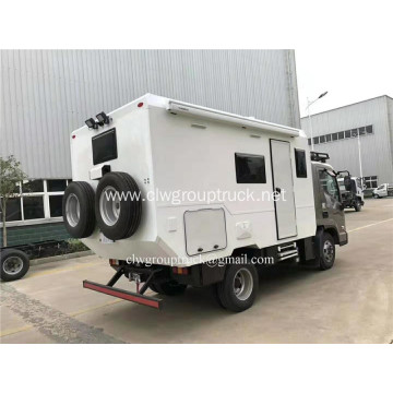 Cross country camping trailer with toilet