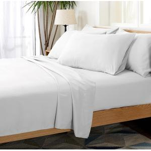 Poly/Cotton Plain Sateen White Flat Sheet