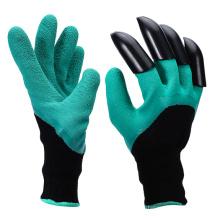 guantes de goma vendedores calientes de la garra del ABS que rasgan los guantes del jardín de la garra del dedo del rastrillo de la planta del empuje