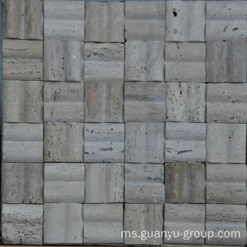 Marmer Mould Mosaic, 3 DT Style Mosaic, Travertine Stone Mosaic Tile