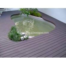 Waterproof wood plastic composite material decking board