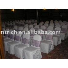 Polyester chair covers,banquet/hotel chair covers,pink organza sash