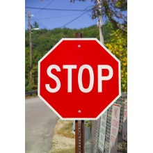 Road Aluminum Reflective Warning Traffic Stop Signs