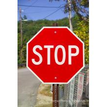Пост Установлен Трафик Алюминиевый Refelective Остановка Безопасности Пользовательские Дорожный Знак