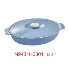 porcelain large ceramic cooking pot cookware with lip