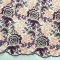 Multicolor Rose Blossom Design Embroidery Fabric