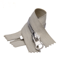 Autolock Closed End Beige Tape Metal Zipper