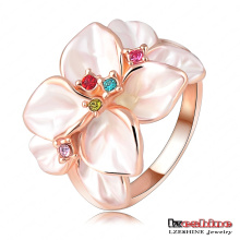 Fashion White Enamel Flower Female Costume Ring (Ri-Hq1006-A)