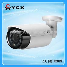 Lente de 1080p CVI lente varifocal de la cámara 2.8-12m m con la distancia del IR de los 40m, arsenal 6pcs llevado, bala impermeable ip66