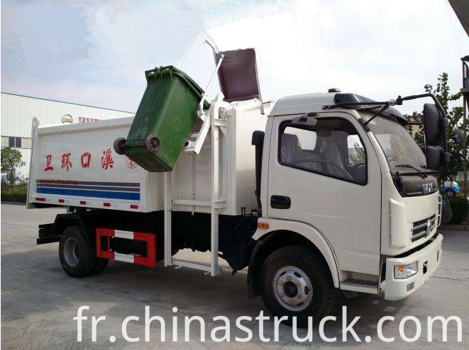 Hang barrel rubbish truck