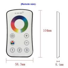 Regulador inalámbrico de la zona RGB 3 de la zona de 2.4G LED Dimmable Touch Remote