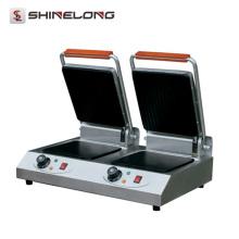 Kommerzielle K406 Doppelköpfe Kontakt Elektrischer Küchengrill Maschine