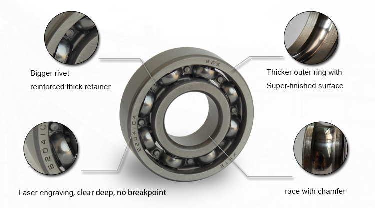 Open Deep Groove Ball Bearing Feature