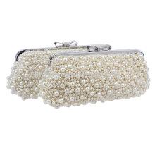 Perles blanches Dames Soir Dîner Sac à main Sac de mariée pour soirée nocturne Boucles d'oreilles nuptiales B00047-1 sacs à main jeunes filles