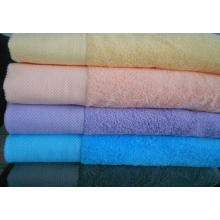 100% cotton bath towels with embossed logo