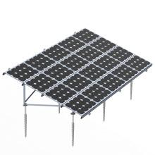 Sistema de montaje de tierra solar de montaje rápido con tornillo de tierra