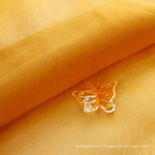 Good air permeability embroidered thin organza fabric