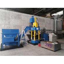 Автоматическая машина для брикетирования сыпучей металлической стружки для вторичной переработки