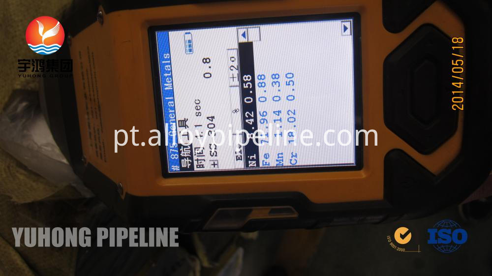 ASTM A312 TP304 Stainless Steel Welded pipe PMI Test