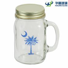 1oz - 24oz Handwerk Glas Einweckgläser mit Griff und Stroh Deckel