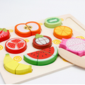 Wooden Cut Fruit Toy Cut Vegetable Toy