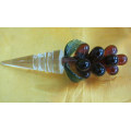 Crystal Flower Wine Stopper for Decoration or Gifts.