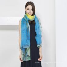 Écharpe en soie de mode pour dames, impression numérique