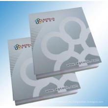 Memo Pad impreso con logotipo, etiqueta engomada de alta calidad