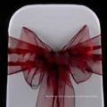 faixa de cadeira de organza barato e chique, capa de cadeira de organza, decoração do casamento de banda de cadeira de organza