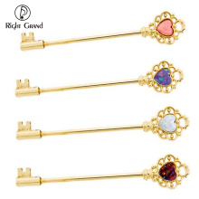 Gold 316L Surgical Steel White Synthetic Opal Heart Industrial Barbell