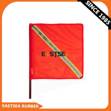 Orange Outdoor PVC Fabric Traffic Safety Flag with Reflective Tape