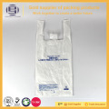 Custom logo white small size vest handle bags