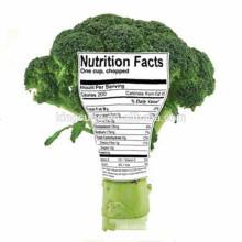 Kundenspezifischer bunter Lebensmittel-Nahrungs-Tatsachen-Verpackungs-Aufkleber