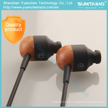 Wooden Earbud in-Ear Earphone for Mobile Phone MP3 Player