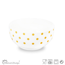 Yellow Dots Design Ceramic Cheap Bowl
